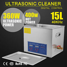15L ULTRASONIC Cleaners Cleaning Supplies Jewellery BATH TANK