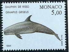 TIMBRE DE MONACO N° 1927 ** FAUNE / CETACES DE LA MEDITERANEE / DAUPHIN DE RISSO