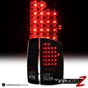 For 07-08 Dodge Ram 1500 2500 3500 Black Smoked Lens LED Tail Light Brake Lamp