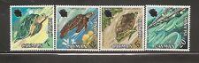 Cayman Islands SC # 283-286 Turtles. Mint Hinged