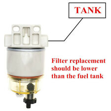 Water Separator Fuel Filter R12T 120AT With Fuel Fitting for Boat Marine Spin-o