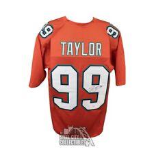 Jason Taylor Autographed Miami Dolphins Custom Orange Football Jersey - JSA COA