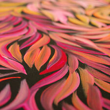 "ABORIGINAL ART PAINTING by MARGARET SCOBIE PURGARDA ""BUSH MEDICINE LEAVES"""