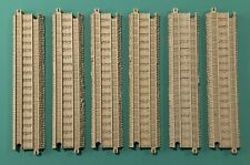 """Lot Of 6 Thomas the Train Trackmaster Tan Replacement 8.5"""" Straight Track"""