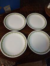 FOUR Corelle Crazy Daisy Spring Blossom Green Flowers Dinner Plates