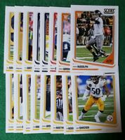 2018 Score Pittsburgh Steelers Team set. Mason Rudolph RC, 18 cards 6 rookies.