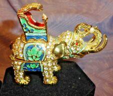 Elephant Jeweled Trinket Box Fine Bijoux Swarovski from Bijoux Murano