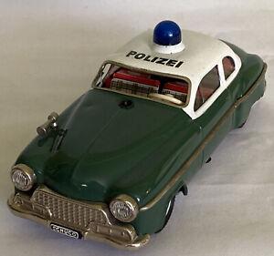 """POLIZEI"" SCHUCO ELECTRO ALARM-CAR 5340 W. Germany Police Car NON WORKING"