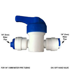 """1/4"""" Inline Tap On/Off Ball Valve 6mm Fridge Pipe,RO Water Filter Tube Push Fit"""