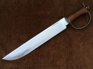 Custom Handmade Carbon Steel 1095 D Guard Bowie Knife ,Hunting, Fully Functional