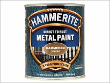 Hammerite - Direct to Rust Hammered Finish Metal Paint Copper 750ml