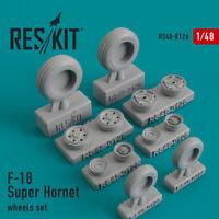 Reskit RS48-0126 - 1/48 – Wheels set for F-18 Super Hornet Resin Detail