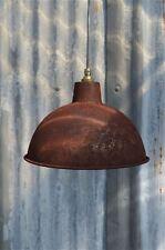 RUSTY STEEL VINTAGE STYLE BARN LAMP WORKSHOP CEILING LIGHT SHADE RS2G3