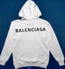 BNWT BALENCIAGA MENS  WHITE HOODIE SWEATSHIRT SIZE XL