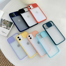 For iPhone11 Pro Max SE 2020 XS XR 8+Slide Camera Protect Clear Soft Case Cover