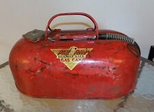 Vintage Phil Rite Outboard Boat Gas Can Double Safe 2 1/2 gal 1950's
