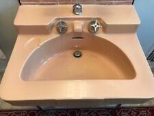 "Crane Drexel Suntan Wall Mounted Bathroom Sink Very rare, 27"" wide x 21"" deep"