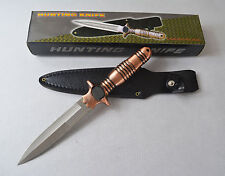 New Sharp Double Edge Stainless Steel Hunting Knife Fighting Knife with Cover