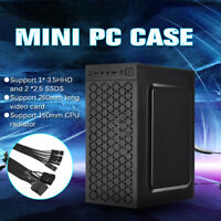 Mini PC Case Micro ATX ITX USB 2.0 Gaming Computer Desktop Case Office