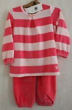 Neuf : Pyjama PETIT BATEAU 4 ans rose vif rayé rose pâle velours pour fille