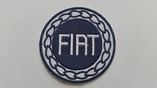 MOTOR RACING CAR SPEED FESTIVAL SEW ON / IRON ON PATCH:- FIAT (a) BLUE DISC