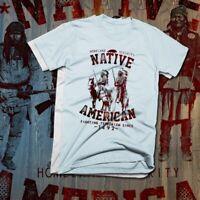 Native American Indian T-Shirt Indigenous Feather Headdress Tribal Warrior Land