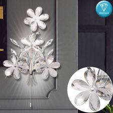 Applique en cristal fleurs salon chambre luminaire chromé lampe à fleurs neuf