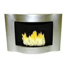 Dollhouse Contemporary Modern Fireplace with Flames 1:12 Doll House Miniatures
