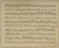 TANZMUSIK Musik NOTEN Handschrift Original Notenblatt von 1853  Walzer Klänge
