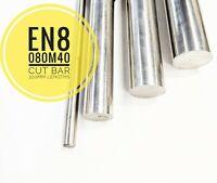 EN8 080M40 Steel Cut Bar 300mm Lengths High Tensile Metric