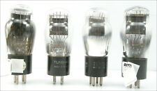 Quad Tung-Sol ST 45 Tubes, 1950s, Test Over Specification, Amplitrex