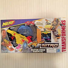 NEW Nerf Nitro Transformers Bumblebee Speedblast 2 stunt cars Hasbro gun 5+ yrs