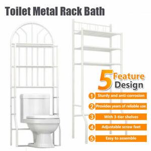 Over Toilet Metal Rack Bath Metal Storage Unit Towel Rail Rack