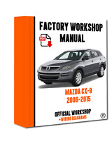 OFFICIAL WORKSHOP Manual Service Repair Mazda CX-9 2006 - 2015