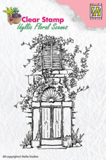 Tampon transparent clear stamp scrapbooking Nellie's Choice PORTE FLEURIE