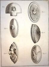 Encyclopédie Méthodique Antiquités Mythologie Boucliers grecs 1786