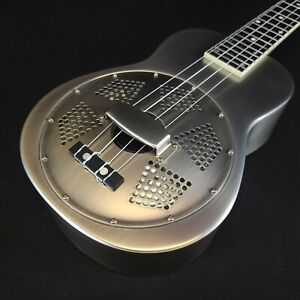 Gold Tone Resouke: Tenor-Scale Metal Body Resonator Ukulele with Gig Bag