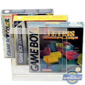 10 x Box Protectors for Game Boy Color Advance Gameboy 0.4m Plastic Display Case