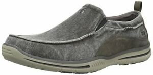 Skechers USA Men's Relaxed Fit-Elected-Drigo Loafer, 12.0 Extra  WideWide US