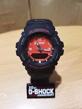 Vintage EVO G-Shock RALLYART G-100 Digit-Ana Mitsubishi Red Face Watch Limited