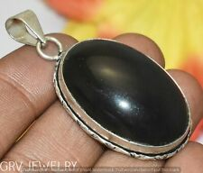 Sterling Silver Overlay U298-A221 Black Onyx Gemstone Pendant 925