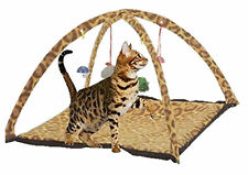 Cat Kitten Pet Activity Playing Tent Toy Bed Pad Mat House Bells Leopard Print
