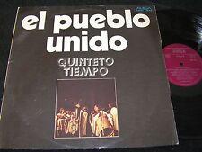QUINTETO TIEMPO El Pueblo Unido / unique DDR LP 1975 AMIGA 855415