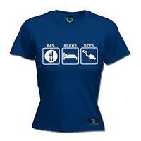 Eat Sleep Scuba Dive LADIES T Shirt slogan tee gift funny present diving snorkel