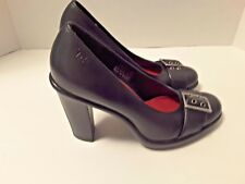 Tommy Hilfiger Womens Black Leather Pumps Heels - Size 6 M