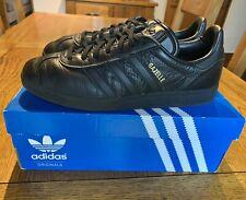 Adidas Gazelle BLACK/BLACK - LEATHER - Size UK 9 / EU 43 1/3 - SPEZIAL SAMBA