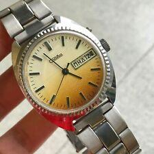 Slava Day Date White Orange Gradient Dial Original Russian Men Mechanical Watch