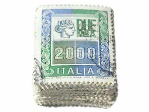 LOTTO MAZZETTA 100 FRANCOBOLLI ALTI VALORI DA LIRE 2000