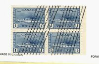 1942 Canada SC #262 Block of four VF centered  used stamp set