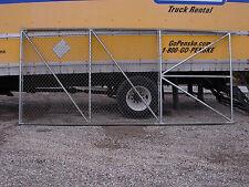 STEEL SLIDE DRIVEWAY GATE  7FT HIGH  X 16FT LONG  - USED